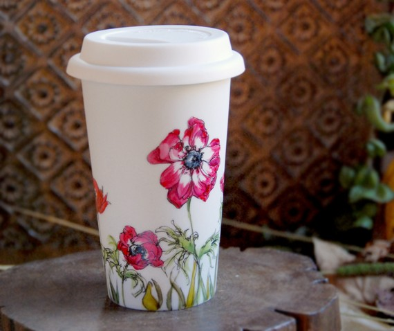 travel mugs by Yevgenia
